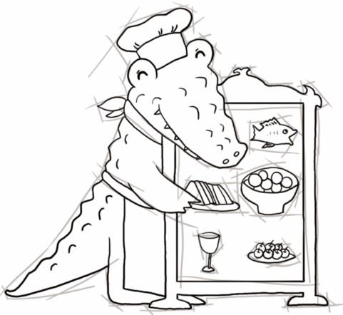 鳄鱼阿婆开餐厅