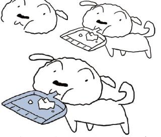 图中鸡宝宝,鸭宝宝和猪大哥的小脚丫不小心被鱼泡泡打乱了,请你将①