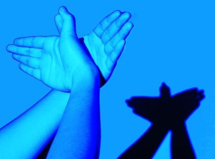 手影里的动物世界 安徽省今日教育集团 今日教育学生