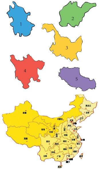 这些都是中国各个省份的轮廓图